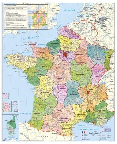 PSČ Francie, 100 x 140 cm