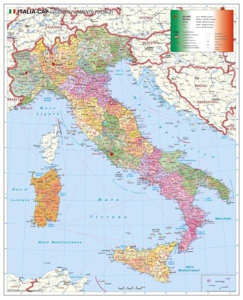 PSČ Itálie, 100 x 140 cm