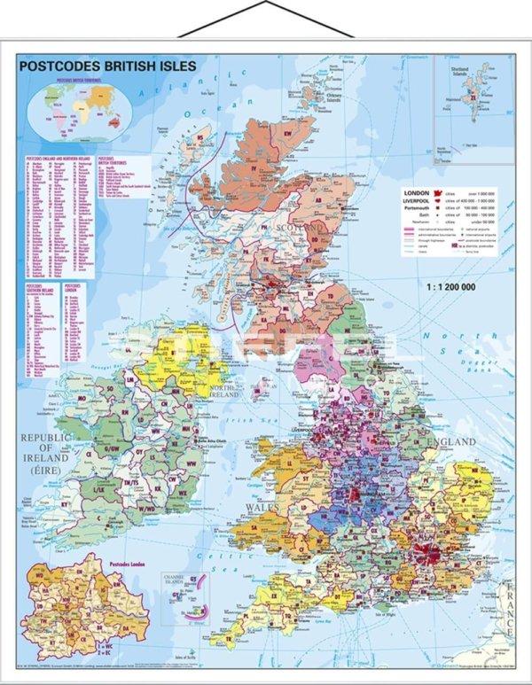 PSČ Veľká Británia, 100x140 cm