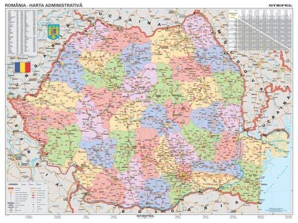PSČ Rumunsko, 100x70 cm